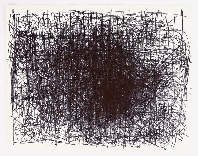 , 'Untitled (Central dense black lines),' 2013, Diane Rosenstein