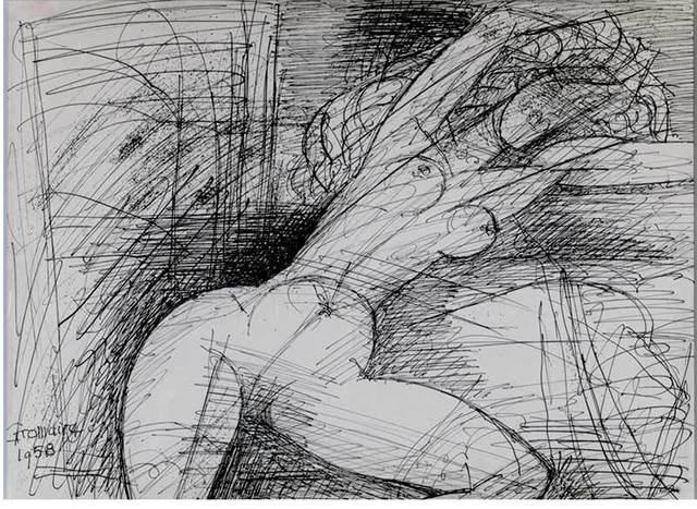 Marcel Gromaire, 'Nu au bras levés ', 1958, Arts et Autographes