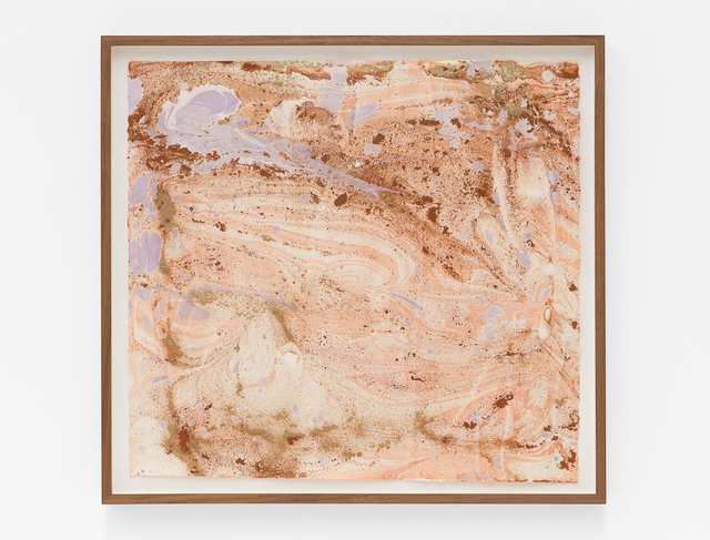 Anya Gallaccio, 'Untitled', 2018, Drawing, Collage or other Work on Paper, Mineral pigment and dirt on paper, Blum & Poe