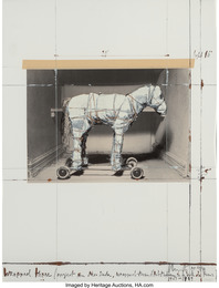 Wrapped Horse, Project for Neo-Dada, Wrapped Musee D'art Moderne de la Ville de Paris