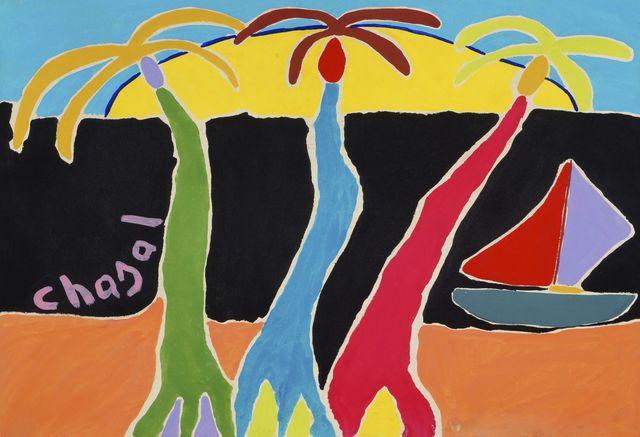 Malcolm de Chazal, 'Untitled (Palms with Sailing boat)', Roseberys