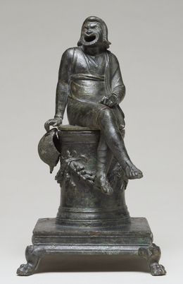 'Thymiaterion in the Form of a Comic Actor Seated on an Altar and a Separate Theatrical Wig',  first half of 1st century, J. Paul Getty Museum