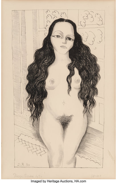 Diego Rivera, 'Nude with long hair (Dolores Olmedo)', 1930, Heritage Auctions