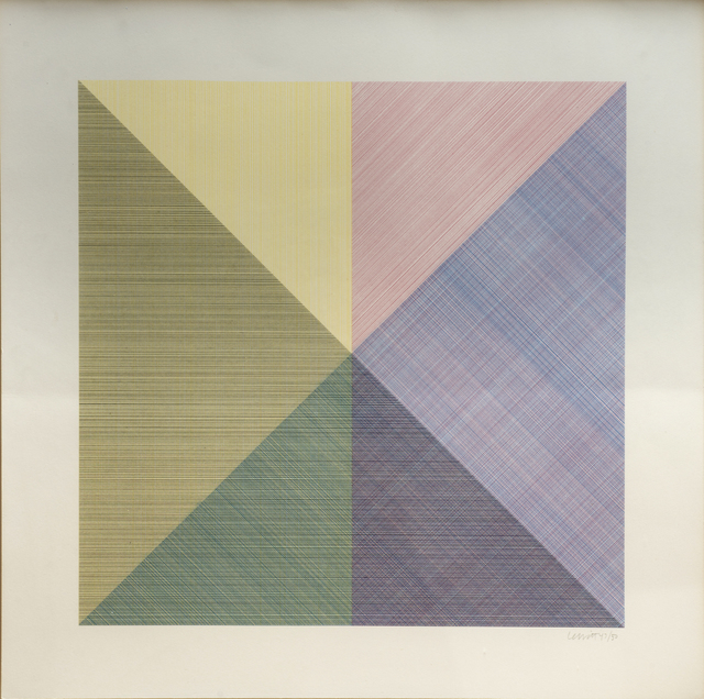 , 'Eight Squares With A Different Color In Each Half Square (Divided Horizontally And Vertically),' 1980, Wexler Gallery
