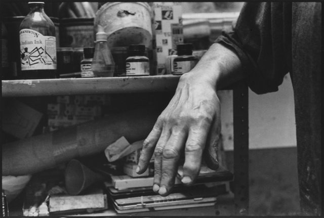 , 'Hand of Frank Auerbach,' 2016, Candida Stevens Gallery