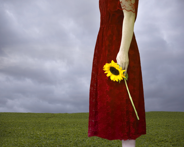 Patty Maher, 'Red Dress, Yellow Flower', 2017, Abbozzo Gallery