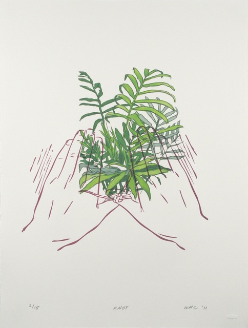 Workingman Collective, 'Knot', 2011, Print, Letterpress, silkscreen, and hand coloring on paper, Tracey Morgan Gallery