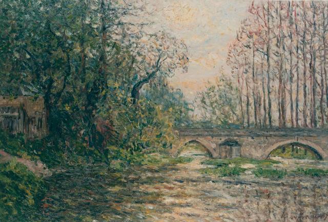, 'Soleil couchant sur le Loir, Laradin (Loir-et-Cheer),' 1907, R. S. Johnson Fine Art
