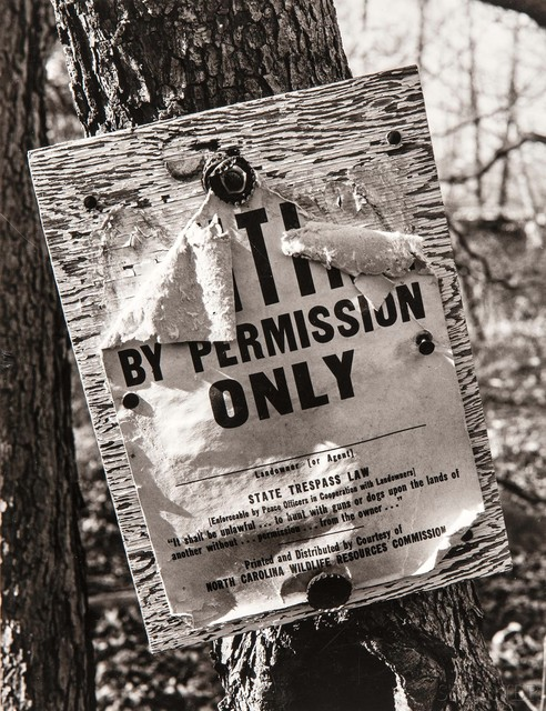 Walker Evans, 'North Carolina Wildlife Resources Commission Sign', 1971, Skinner