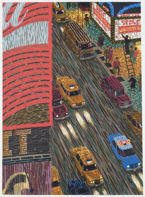 Yvonne Jacquette, 'Motion Picture (Times Square) ', 1989-1990, Brooke Alexander, Inc.
