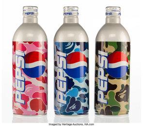 Set of Three Pepsi Bottles