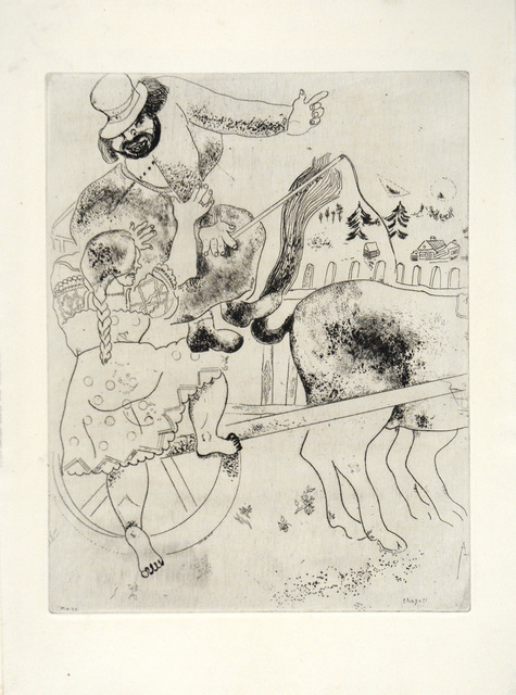 Marc Chagall, 'The Indication of the Road', 1948, Print, Etching, Goldmark Gallery