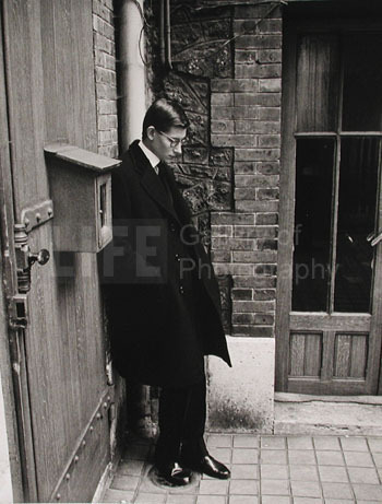 Loomis Dean, 'Yves St. Laurent after Attending  Christian Dior's Funeral', 1957, Photography, Silver Gelatin Print, Contessa Gallery