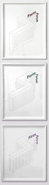 , 'Form Farm Firm Forum,' 2014-2015, Galerie Sabine Knust