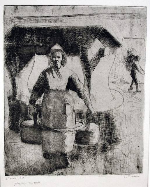 , 'Paysanne au Puits (Peasant Woman at the Well),' 1891, Harris Schrank Fine Prints