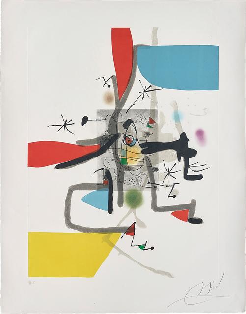 Joan Miró, 'Llibre dels sis sentits (Book of the Six Senses): plate I', 1981, Phillips