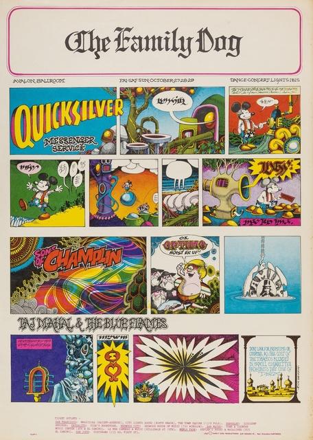 Rick Griffin, 'Quicksilver Messenger Service: The Family Dog U.S. concert poster', 1967, Forum Auctions