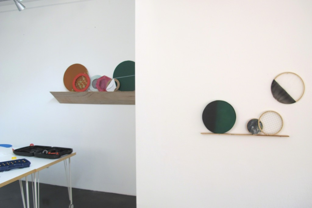 Various installations in solo exhibition 'Shape and Form'. Featuring the artwork 'Multiple, edition 5' (on the right). Various materials.