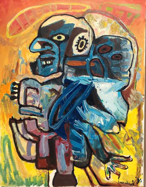Lucebert, 'Vader en zoon (Father and son)', 1990, Okker Art Gallery