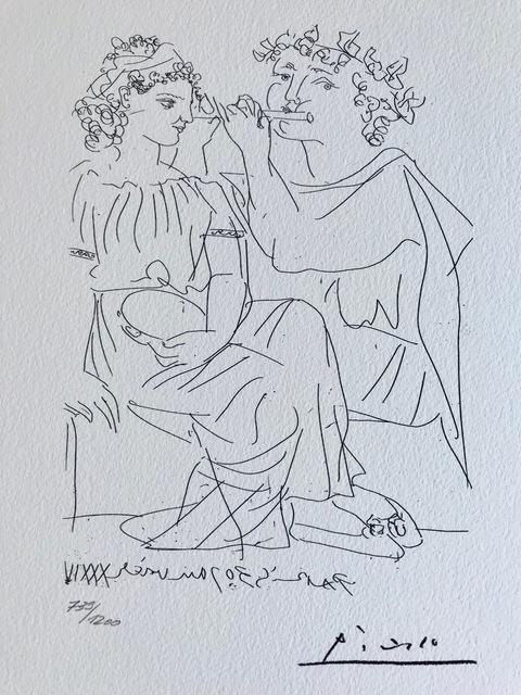 Pablo Picasso, 'Joueur de flûte et femme au tambour (Suite Vollard Planche XX)', 1973, ByNewArt