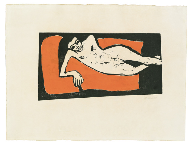 , 'Reclining Fränzi ,' 1910, Galerie Kovacek