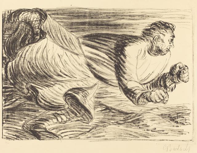 Ernst Barlach | The Raging Barbarian (ca  1916/1917) | Artsy