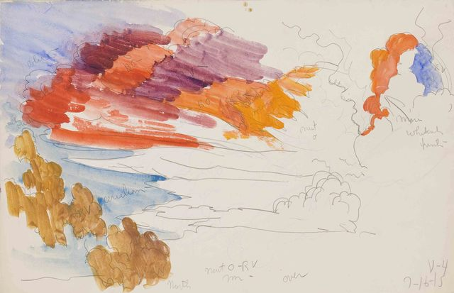 , 'Flaming Orange Northern Sky at Sunset / V-4,' 1915, Montclair Art Museum