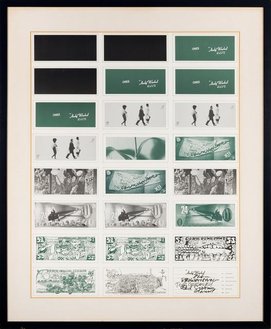 Andy Warhol, 'ART CASH', Print, Color offset lithograph, Doyle