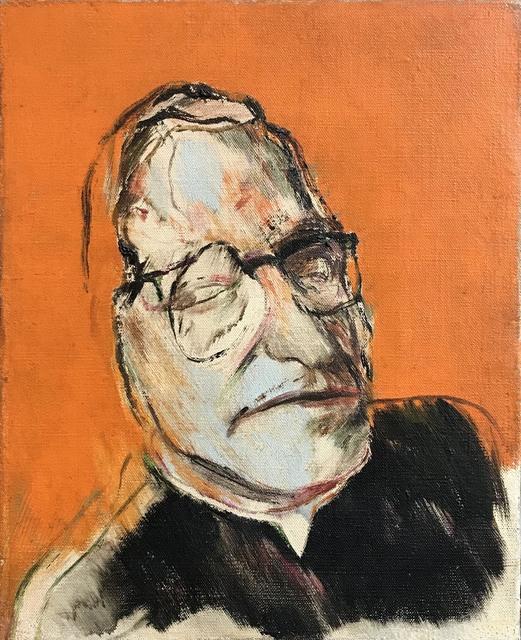R. B. Kitaj, 'Monseigneur Ungar', 1958, Painting, Oil on canvas, Waterhouse & Dodd