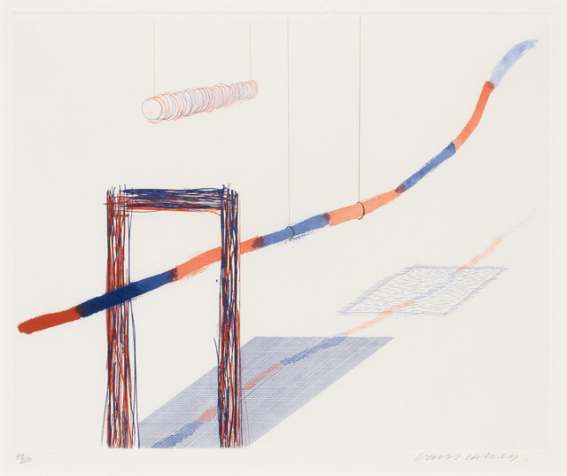 David Hockney, 'IT PICKS ITS WAY (S.A.C. 202)', 1976-77, Doyle