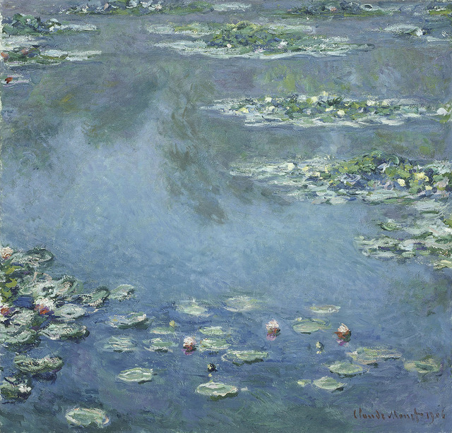 Claude Monet, 'Water Lilies', 1906, Painting, Oil on canvas, Art Institute of Chicago