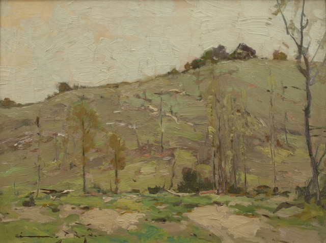 Chauncey Ryder, 'Sunny Hillside', ca. 1915, Painting, Oil on canvas, Private Collection, NY