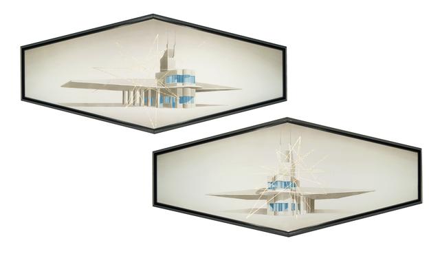 Amadeo Azar, 'Fiat Tagliero building + lozza (diptych)', 2013, Nora Fisch