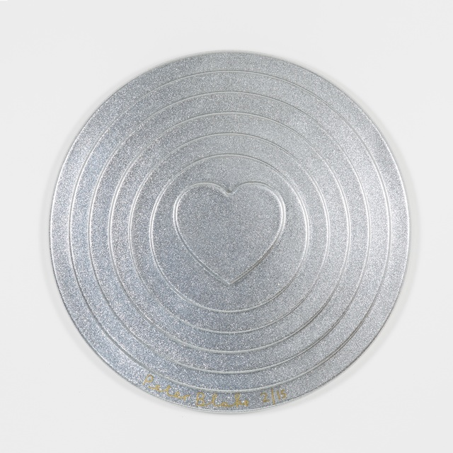 , 'Silver Target (metal flake),' 2017, Paul Stolper Gallery