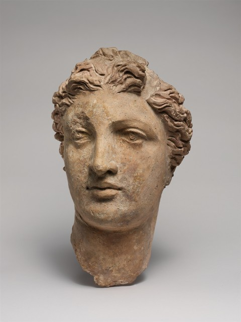 Unknown Greek, 'Terracotta head of a woman', 3rd–2nd century B.C., The Metropolitan Museum of Art