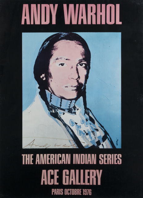 Andy Warhol, 'Ace Gallery Los Angeles, American Indian Series', 1977, Julien's Auctions