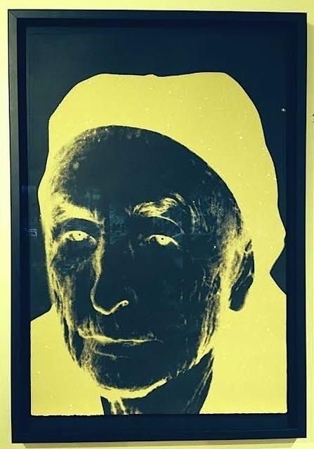 Andy Warhol, 'Georgia O'Keefe', 1979, Print, Unique screenprint with Diamond Dust on black Arches Cover, Vertu Fine Art