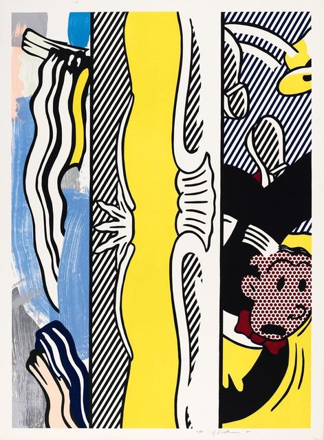 Roy Lichtenstein, 'Two paintings: Dagwood', 1984, Print, Colour woodcut and colour lithograph, Koller Auctions