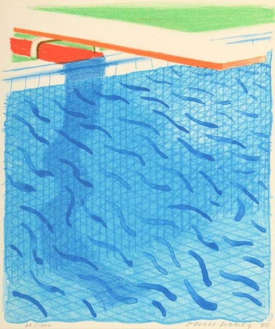 David Hockney, 'Pool Made with Paper and Blue Ink (from Paper Pools)', 1980, Lougher Contemporary