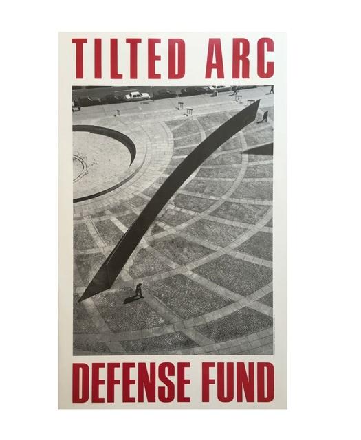 "Richard Serra, '""Tilted Arc Defense Fund"", 1985, Poster, Limited Edition, Leo Castelli Gallery NYC', 1985, VINCE fine arts/ephemera"