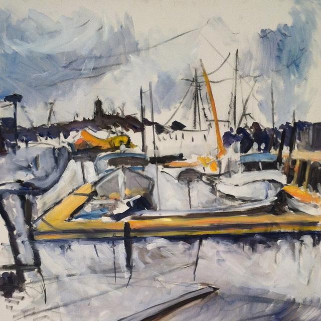 Brett Wallace, 'Study for Gloucester Harbor II', 2013, JCO's Art Haus