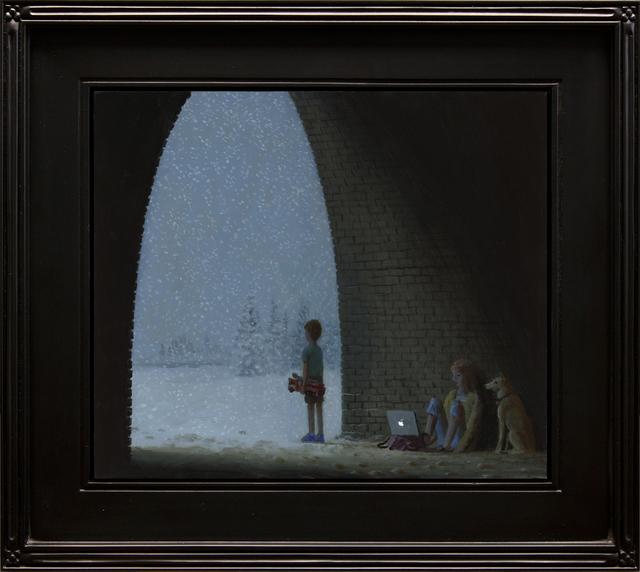 Aron Wiesenfeld, 'Hacker', 2019, Painting, Oil on Panel, ARCADIA CONTEMPORARY