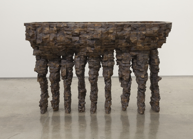 Ursula Von Rydingsvard, 'Nine Finger Bowl', 1993, Edward Cella Art and Architecture