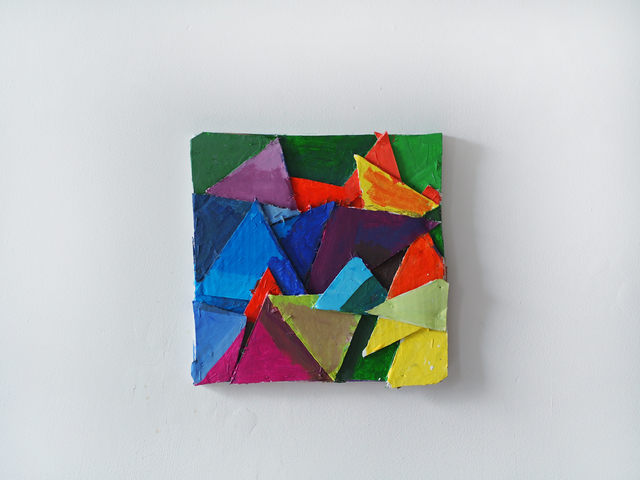 , 'Colored Triangles,' 2016, Josée Bienvenu