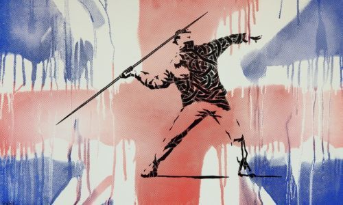 Otto Schade, 'HOMAGE TO BANKSY (FLAG)', Marcel Katz Art