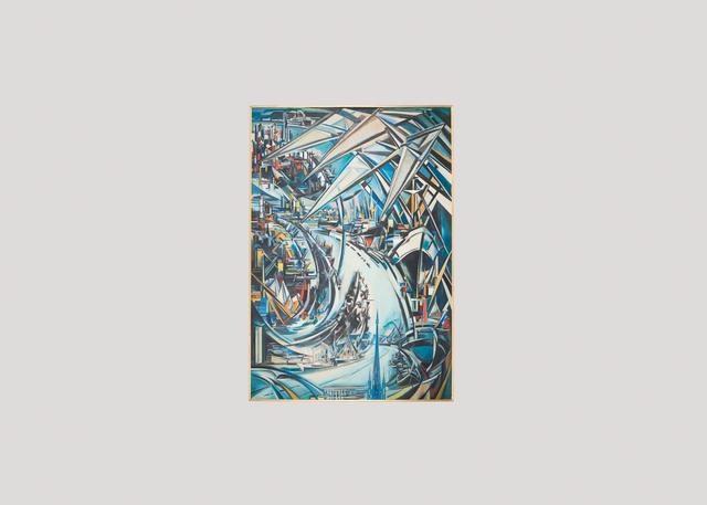, 'Le travail de la Cité, Important Painting of Large Proportions,' ca. 1950, Maison Gerard