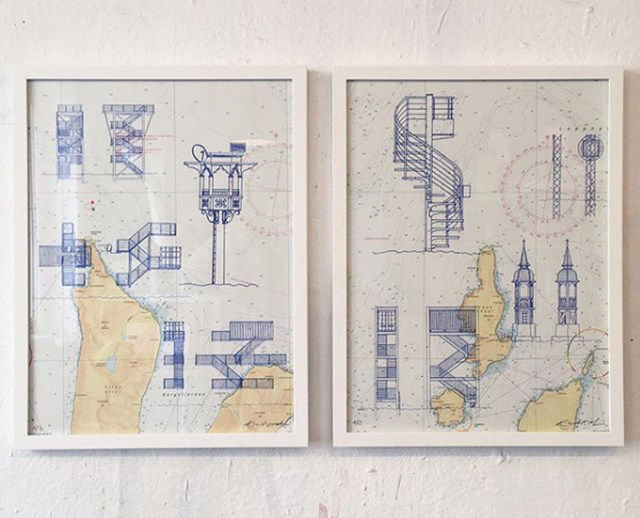 """, '""""Sea forts 48"""" + """"Sea forts 49"""",' 2018, sc gallery"""