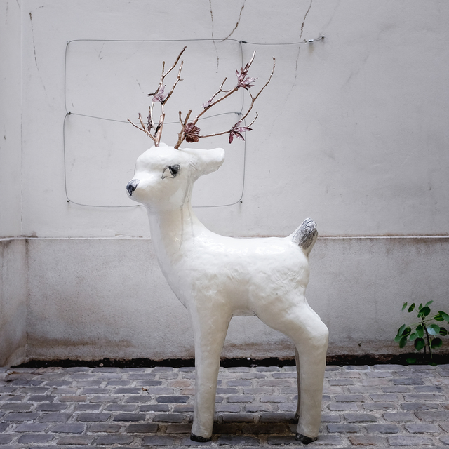 , 'Large fawn with branches,' 2018, Antonine Catzéflis