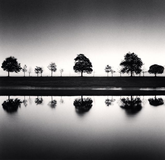 Michael Kenna, 'Reflecting Trees - Saint Valery sur Somme, France.', 2009, Photography, Sepia tones Silver Gelatin print, Galeria de Babel