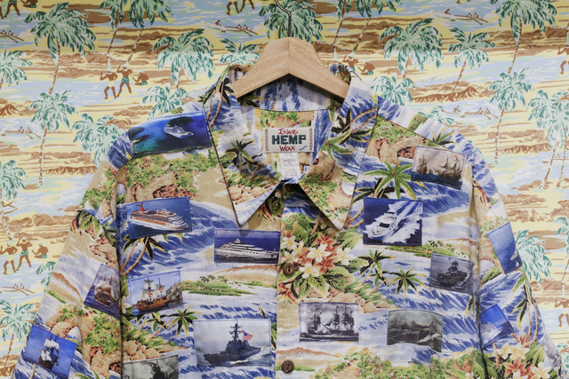 , 'I can wear tropical print now #4 (ships on a deserted island),' 2018, Casa Quien